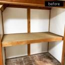 洗濯機置き場を作れない、コンパクトな脱衣室に洗濯機を置こう!の写真 和室側の押入れのリフォーム前