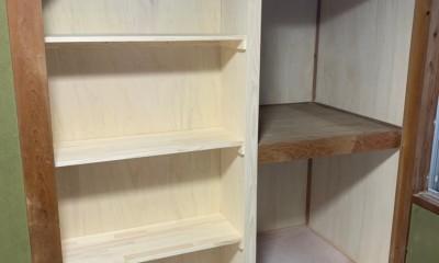 洗濯機置き場を作れない、コンパクトな脱衣室に洗濯機を置こう! (洗面脱衣室側のスペースを広げたので)