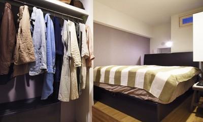 デザイン+自然素材 こだわりの住まい (小上がり付きの寝室)