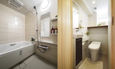 デザイン+自然素材 こだわりの住まい (広く使いやすくなった浴室・トイレ)