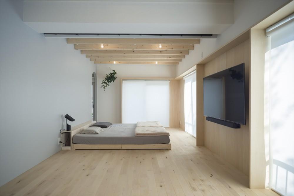 宮崎台のリノベーション (ベッドルーム)