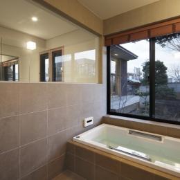 練馬の住宅 / 様々な場所とお互いの距離感を楽しむ住まい (浴室、洗面所)