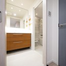 心地よいホワイトオークの住まいの写真 洗面室