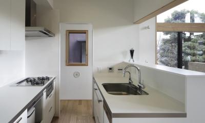 練馬の住宅 / 様々な場所とお互いの距離感を楽しむ住まい (キッチン)