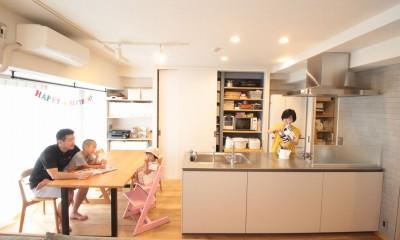 回遊性で家事ラク!開放感で子どもが喜ぶ間取りに!