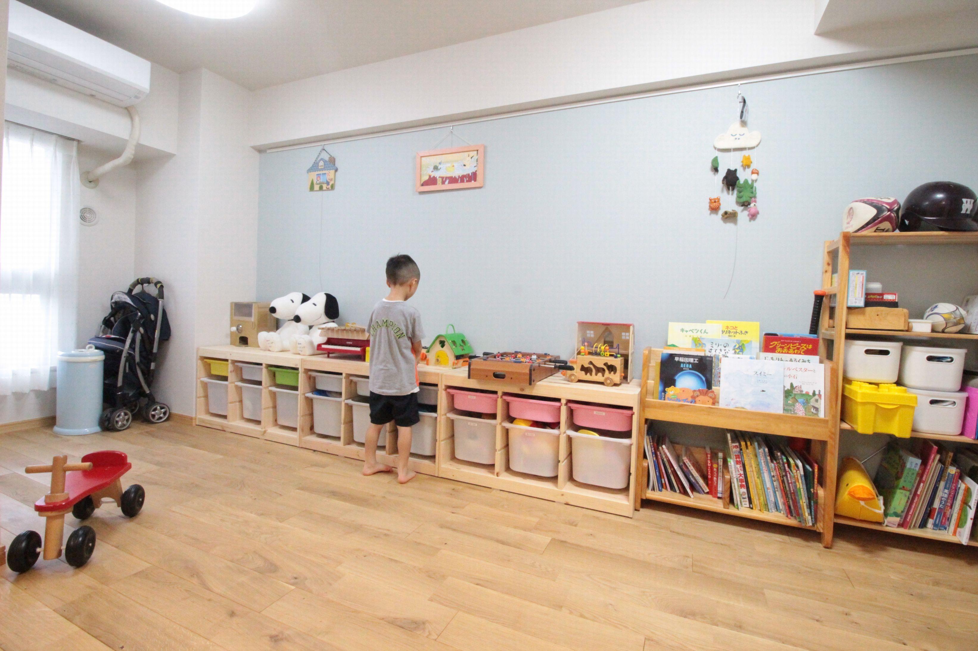 子供部屋事例:おもちゃも整理整頓!広々とした子供部屋(回遊性で家事ラク!開放感で子どもが喜ぶ間取りに!)