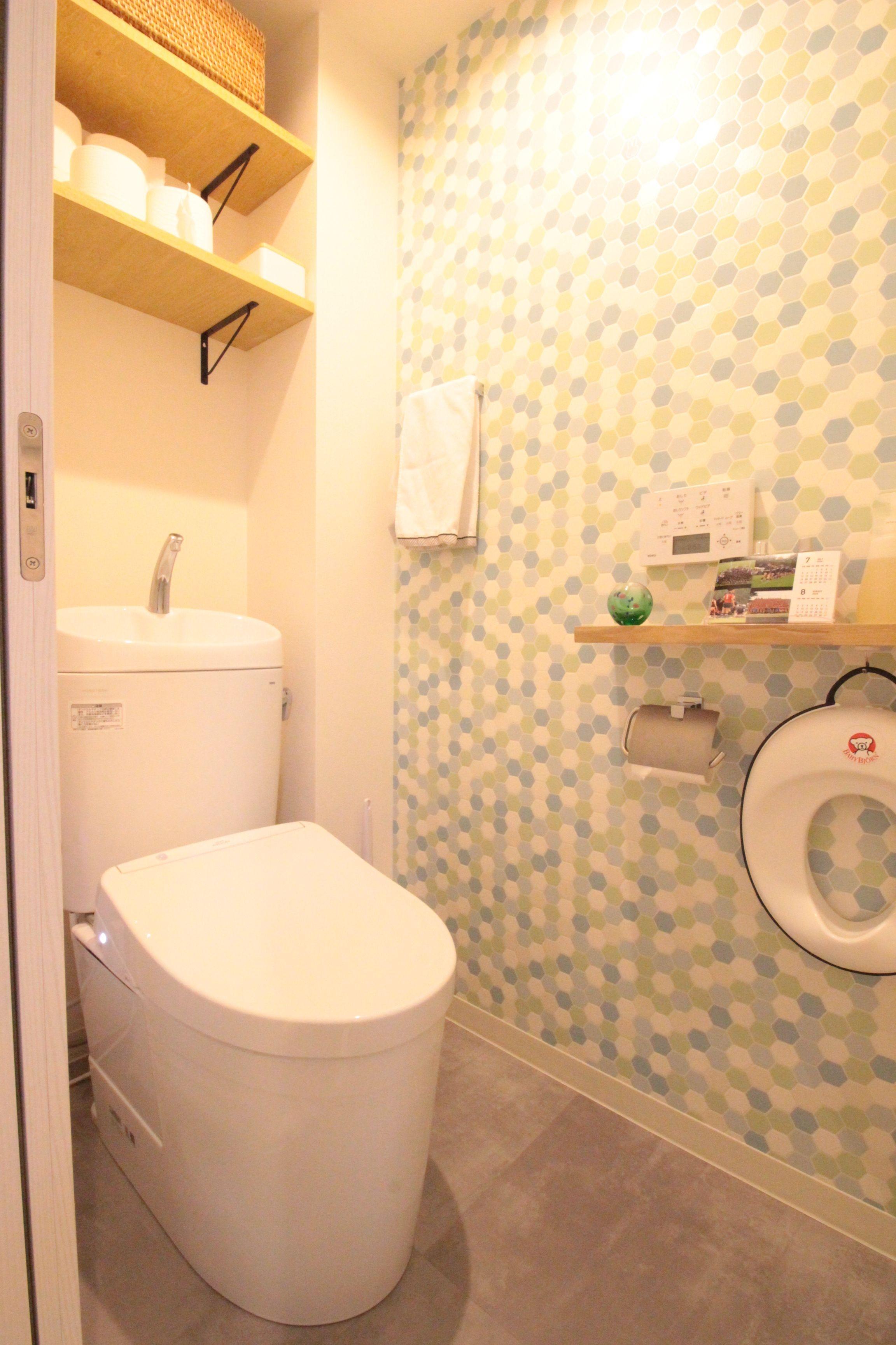 バス/トイレ事例:アクセントクロスで子どもがワクワクするトイレ(回遊性で家事ラク!開放感で子どもが喜ぶ間取りに!)