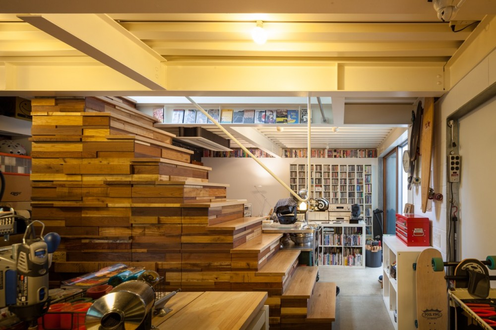 洗足池の住宅 (1階アトリエ)