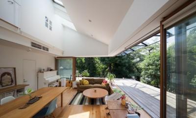 洗足池の住宅 (2階リビング,ダイニング)