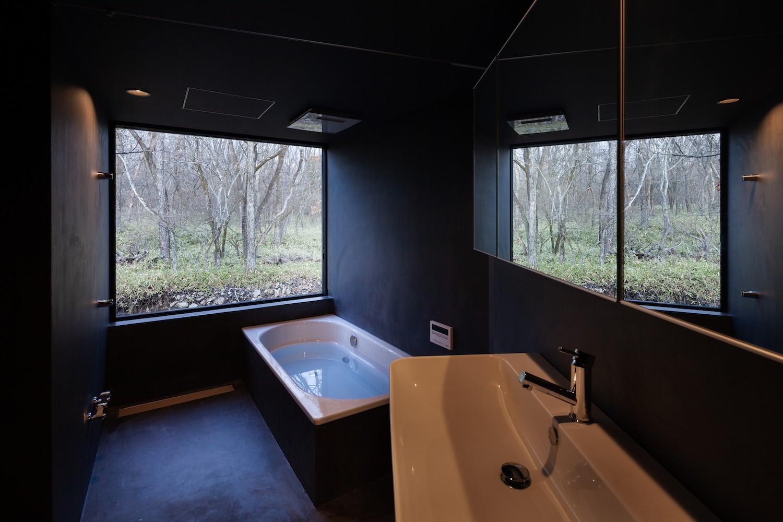 バス/トイレ事例:浴室(野辺山の住処)