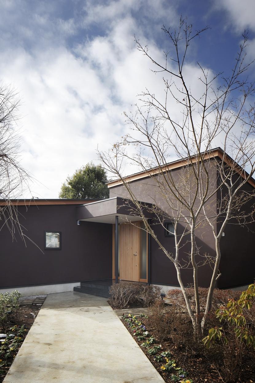 練馬の住宅 / 様々な場所とお互いの距離感を楽しむ住まいの部屋 玄関アプローチ