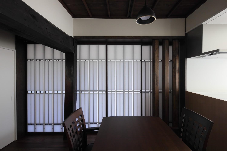 リビングダイニング事例:食堂(京丹後の民家)
