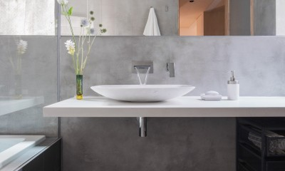 AREA PARK STUDIO (浴室とつながるシンプルな洗面室)