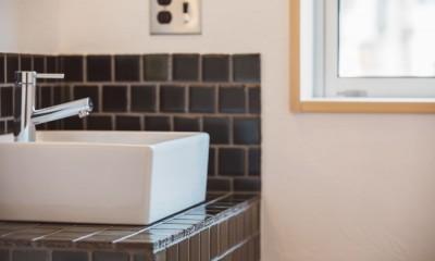 ネコと暮らす家 (手洗いコーナー)