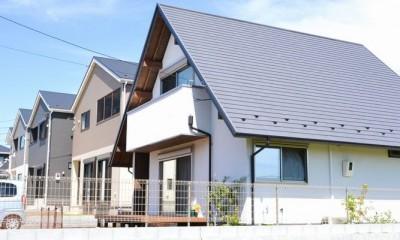 矩勾配屋根の家 (外観)