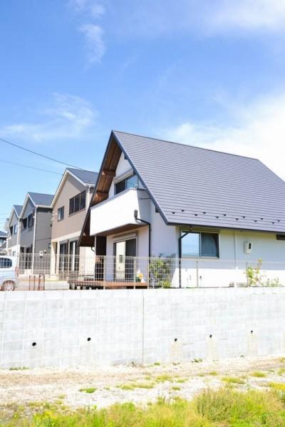 外観 (矩勾配屋根の家)