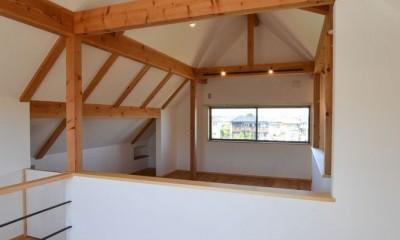 2階フリースペース|矩勾配屋根の家
