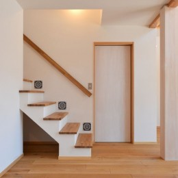 矩勾配屋根の家 (階段)