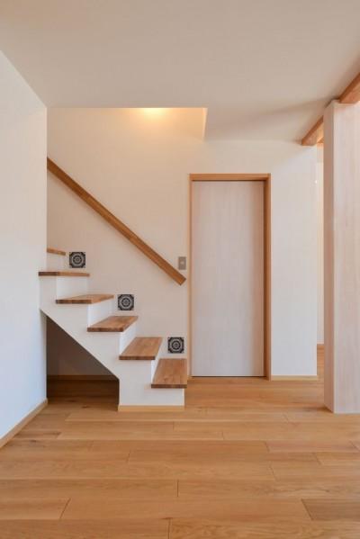 階段 (矩勾配屋根の家)