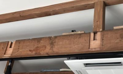 2階建てから平屋へ 大きく減築した戸建てリノベーション 【FLAT HOUSE】 (古材(旧構造部))