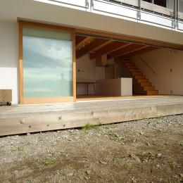 諏訪湖畔のアトリエ|諏訪の週末の家 (大開口)