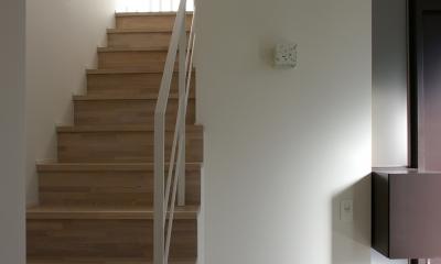 I邸 / 断面操作でスキマをつくり広がりと光を得る (玄関アプローチ)