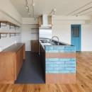 CAFE time ~ 爽やかカフェのようなリノベーション空間の写真 キッチン