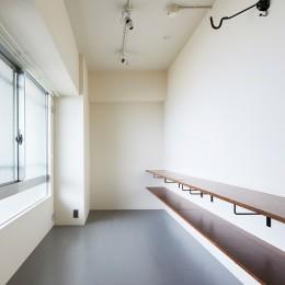 CAFE time ~ 爽やかカフェのようなリノベーション空間 (エントランス(側面))