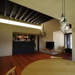 リビングダイニング (竹の山の家)