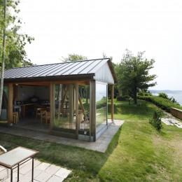 海を望む小屋~家族や友人と食事を楽しむための小屋~ (外観)