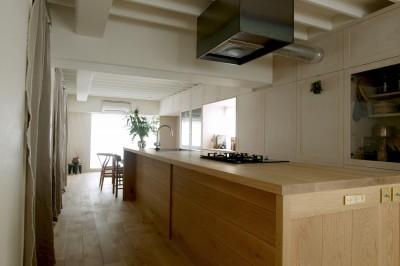 House I/マンションリノベーション (家の中心に据えたキッチン)