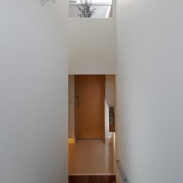 木の温かみのある2世帯住宅 ( 関町北の家 ) (子世態玄関)