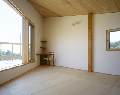 子供部屋、テラス (VILLA BOOMERANG / 八ヶ岳の別荘)