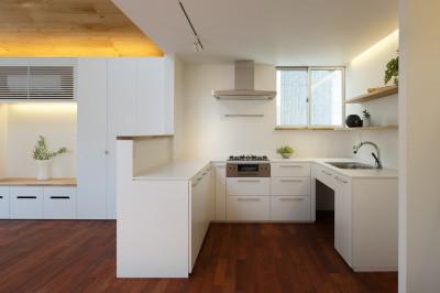 子世帯キッチン (木の温かみのある2世帯住宅 ( 関町北の家 ))