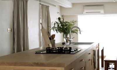 House I/マンションリノベーション (オークのキッチン)