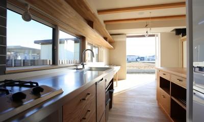 土間の家 (造作流し・食器棚)