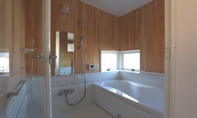 土間の家 (桧壁の浴室)