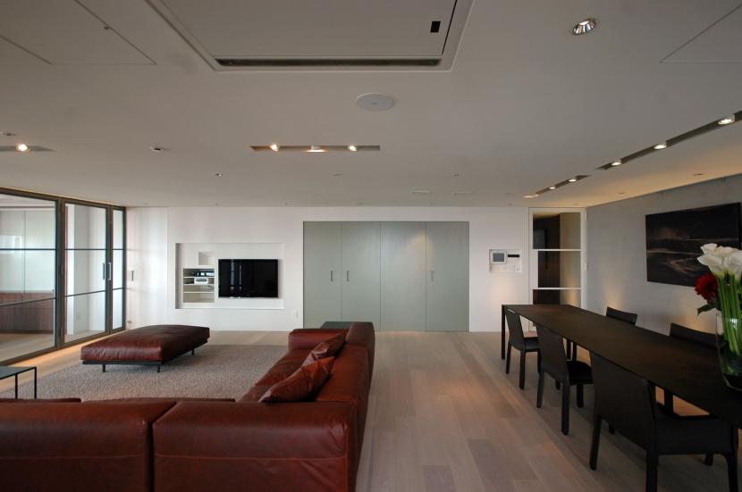 六本木T邸の写真 リビングルーム