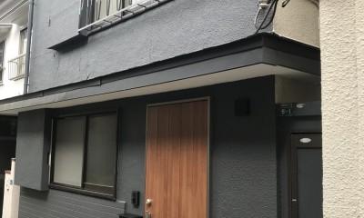 神戸松原通の家「レトロテイスト」な戸建て住宅 (外観)