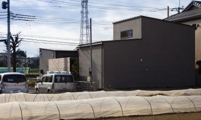 松戸の家4(FLAT HOUSE) (外観)