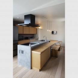 松戸の家4(FLAT HOUSE) (キッチン)
