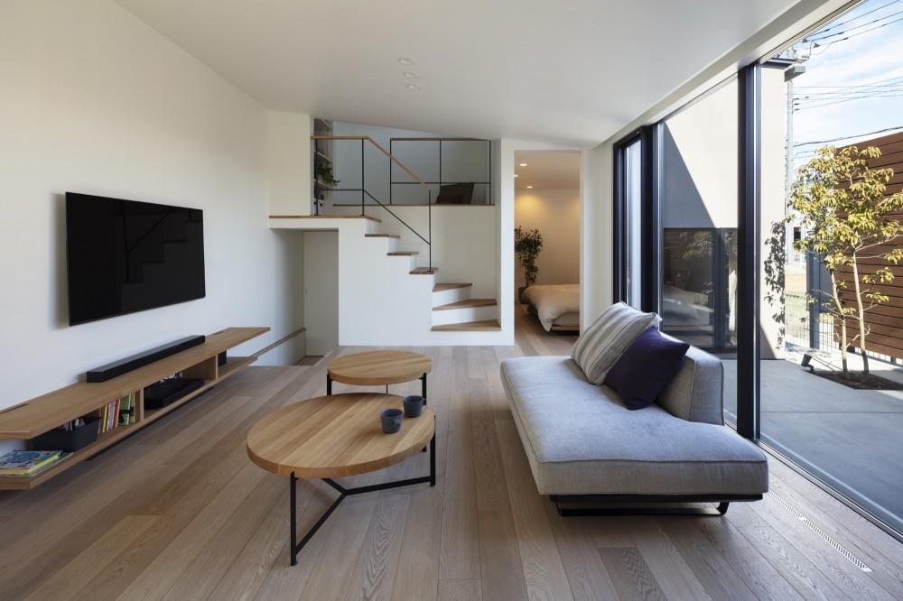 松戸の家4(FLAT HOUSE) (リビング)