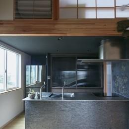 きいちゃんち~狭小地を有効に活用した2世帯住宅 (キッチン)