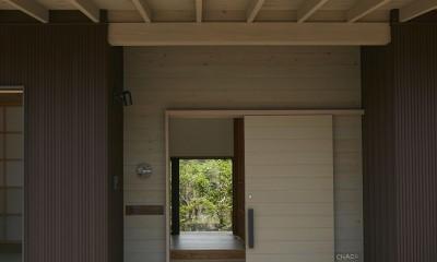 大草の家~猫と暮らすやさしいデザインの家 (玄関ポーチ)