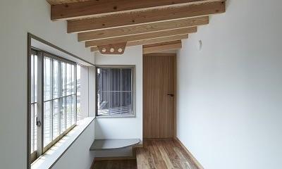 大草の家~猫と暮らすやさしいデザインの家 (物干し場)
