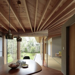 扇垂木の家 (ダイニング)