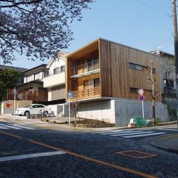紅花居~百日紅と桜並木に囲まれた木箱の家