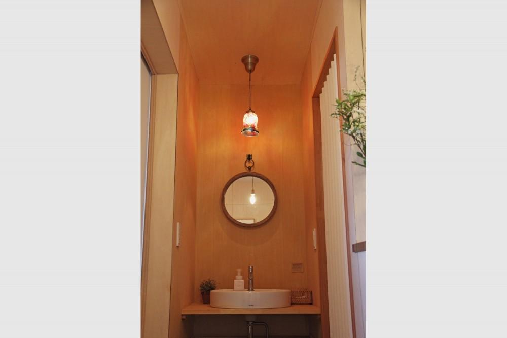 松戸の家3(ゲルのある家) (洗面所)