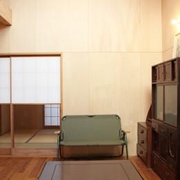 松戸の家3(ゲルのある家) (リビング/ダイニング)