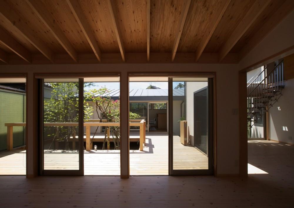 中庭 (茅ケ崎東海岸北の家~中庭で緩やかにつながる2世帯住宅)